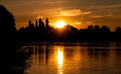 Sonnenuntergang in Seyer am Rhein