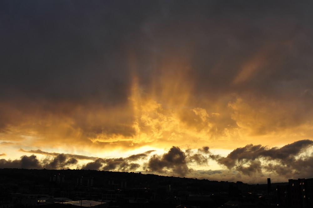 Sonnenuntergang in Sheffield