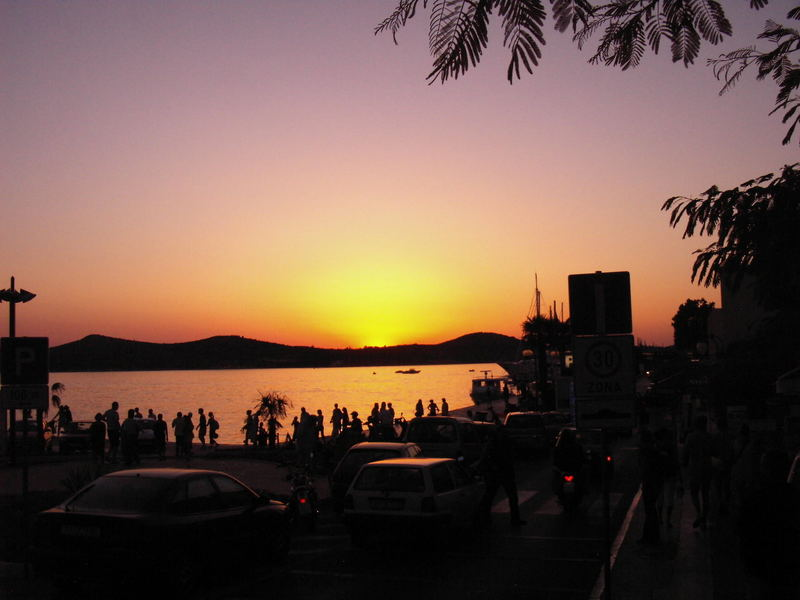 Sonnenuntergang in Sibenik