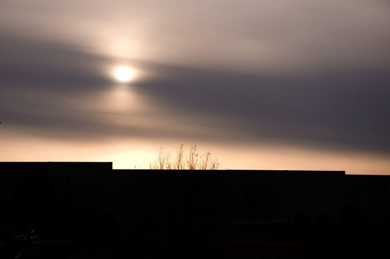 Sonnenuntergang in Sinsheim