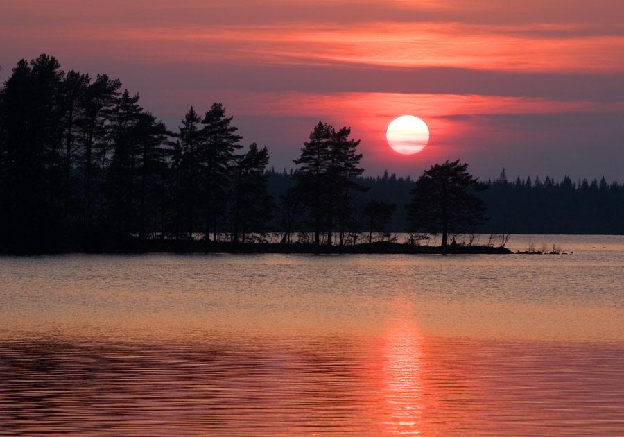 Sonnenuntergang in Smaland/Schweden
