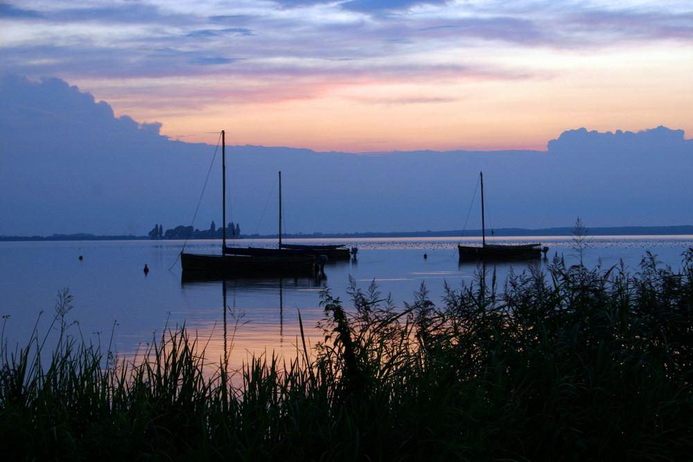Sonnenuntergang in Steinhude - mal wieder... ;)