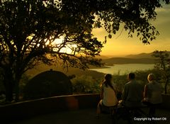 Sonnenuntergang in Südafrika