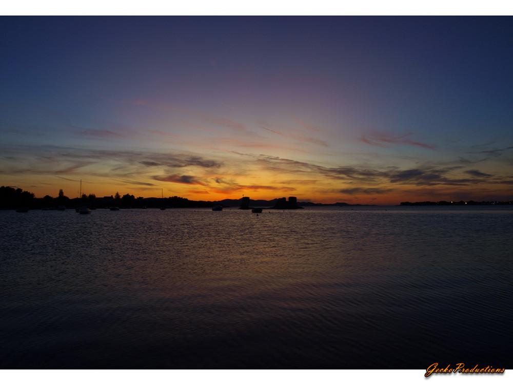 Sonnenuntergang in Sukosan/Kroatien