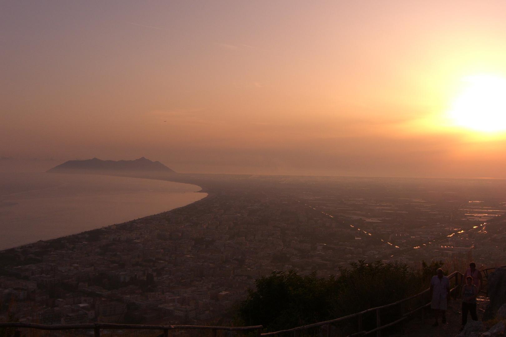 Sonnenuntergang in Terracina