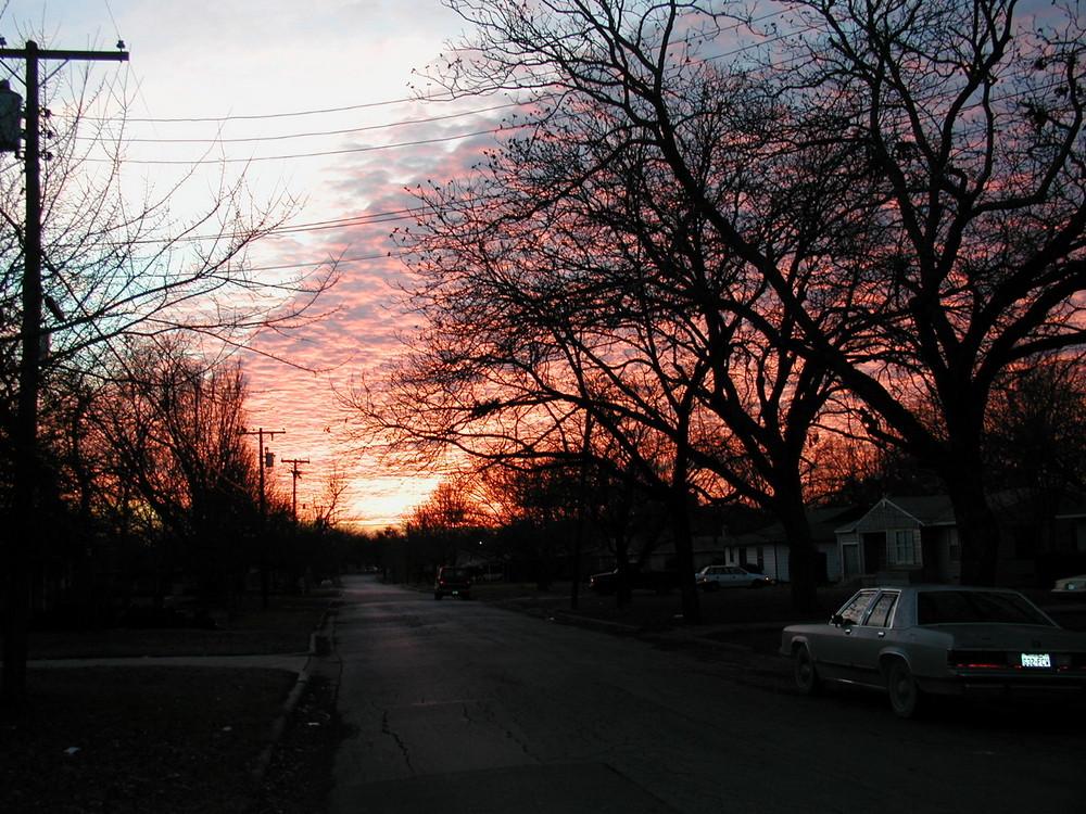 Sonnenuntergang in Texas