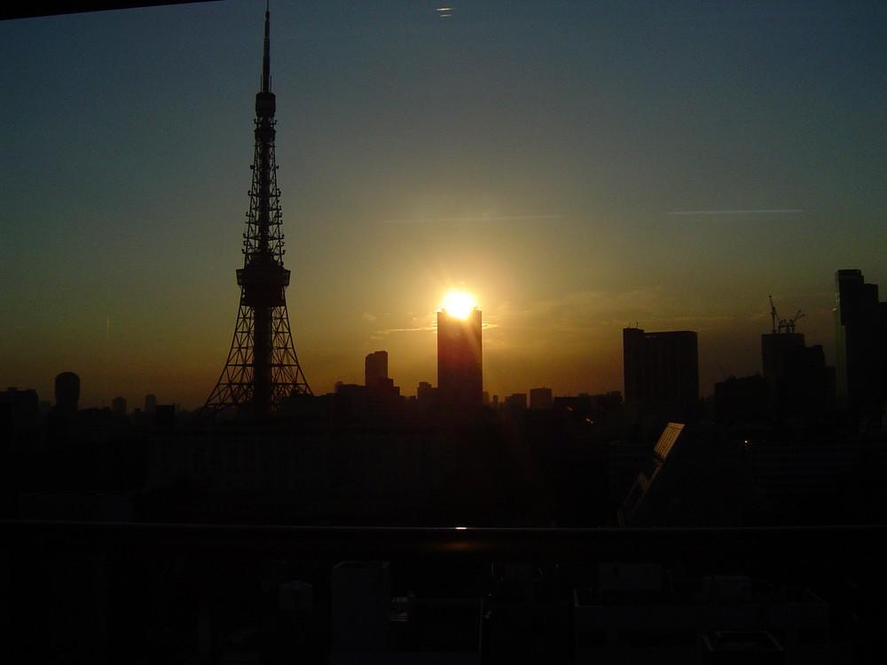 Sonnenuntergang in Tokyo