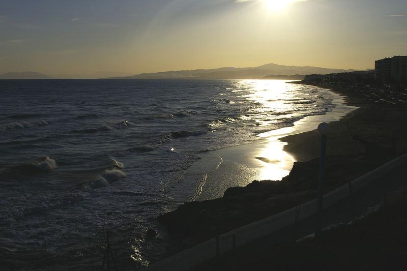 Sonnenuntergang in Torrox Andalusien