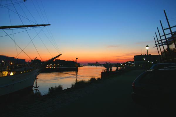 Sonnenuntergang in Vegesack