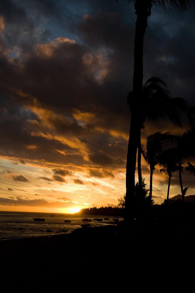 Sonnenuntergang in vielen Farben