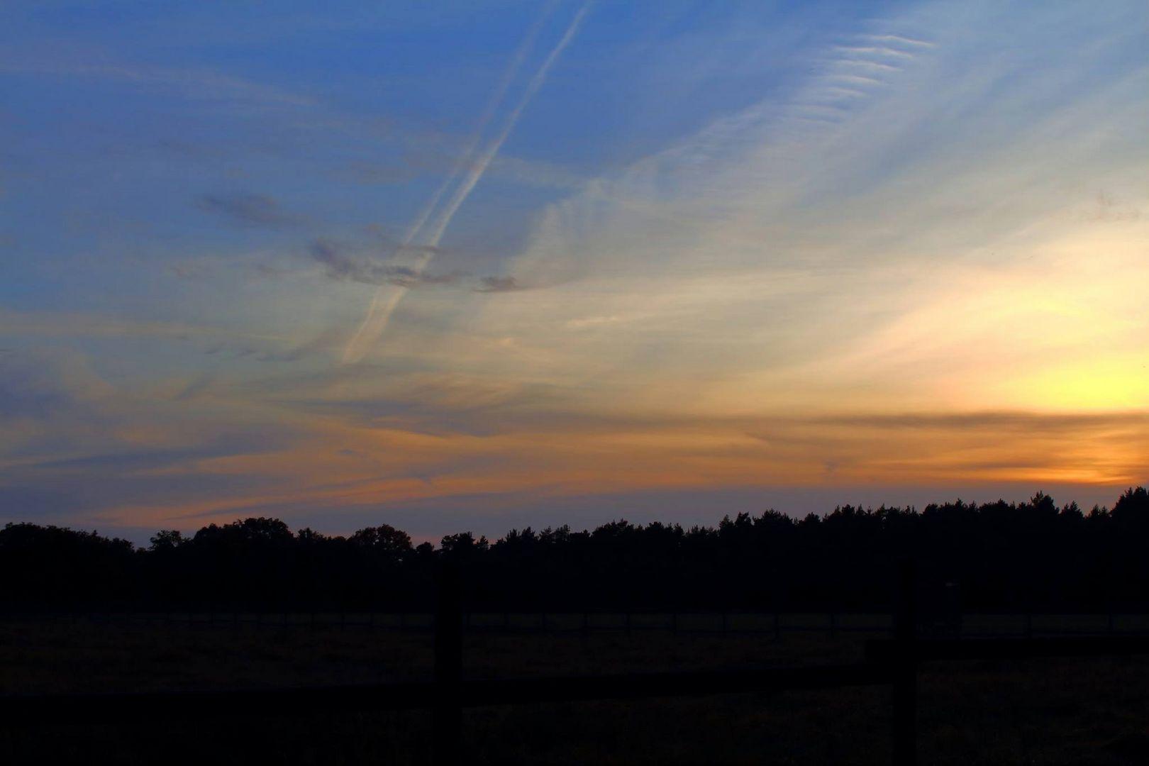 Sonnenuntergang in Vierhöfen