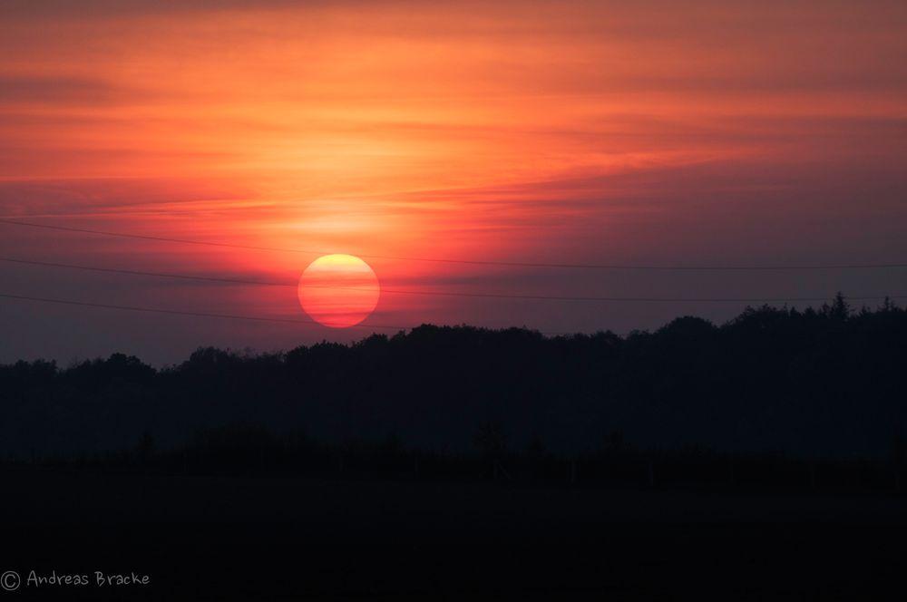Sonnenuntergang in Vorpommern