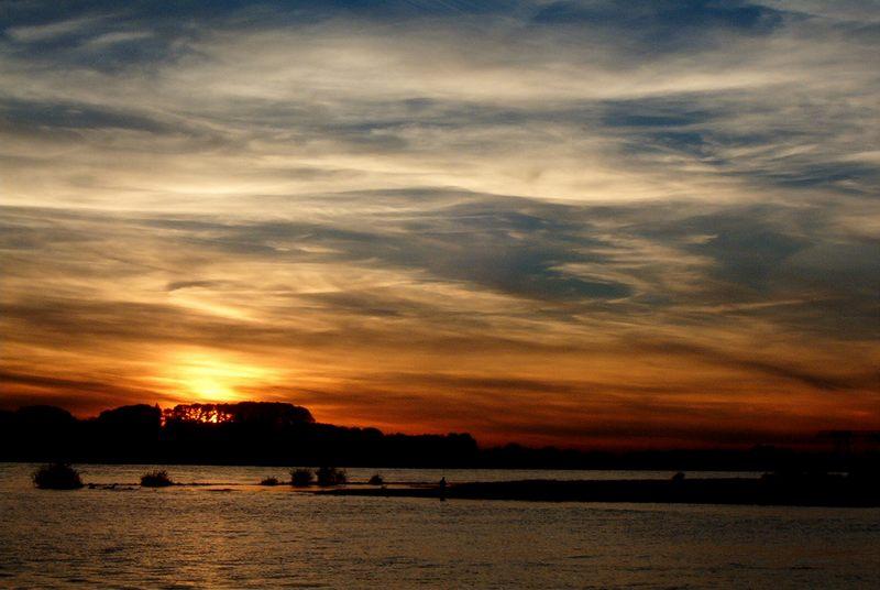 Sonnenuntergang in Walsum