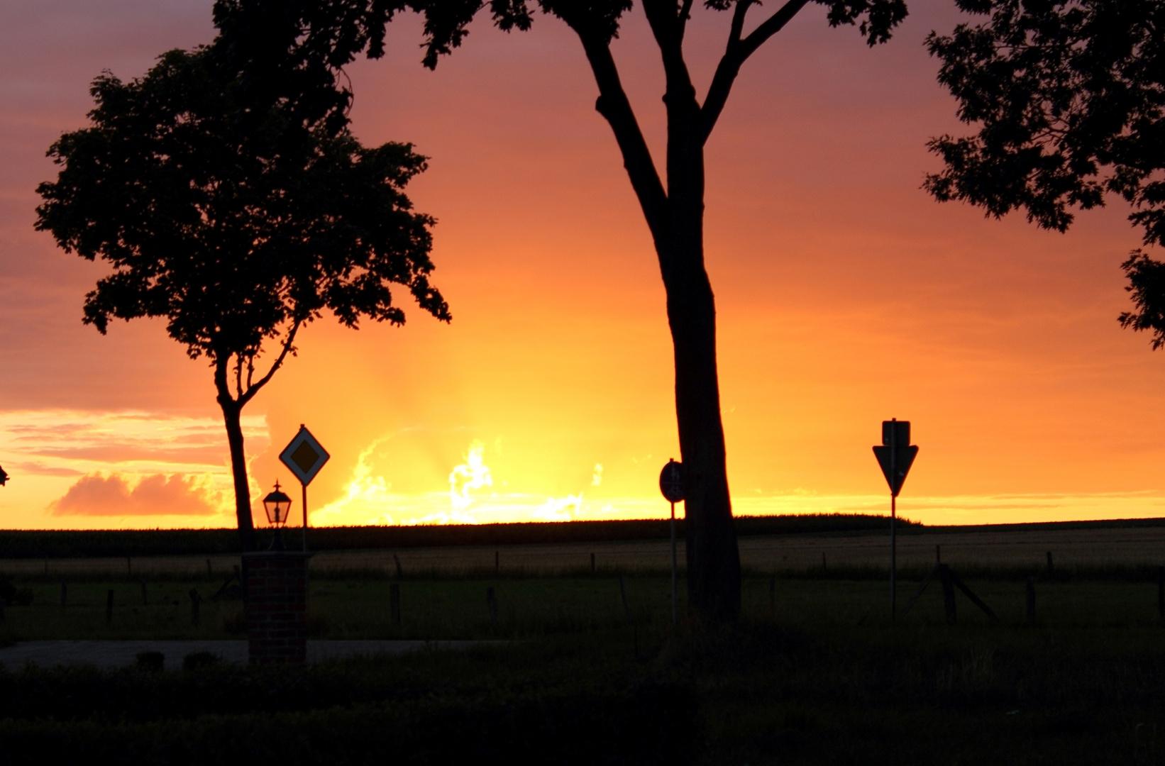 Sonnenuntergang in Wankum