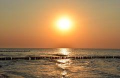 Sonnenuntergang in Warnemünde (1)