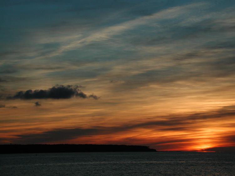 Sonnenuntergang in Warnemünde II