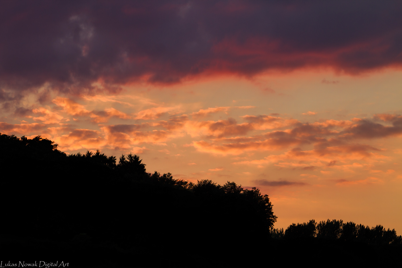 Sonnenuntergang in Wartenberg