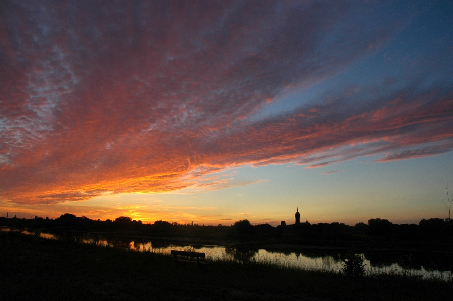 Sonnenuntergang in Wittenberg