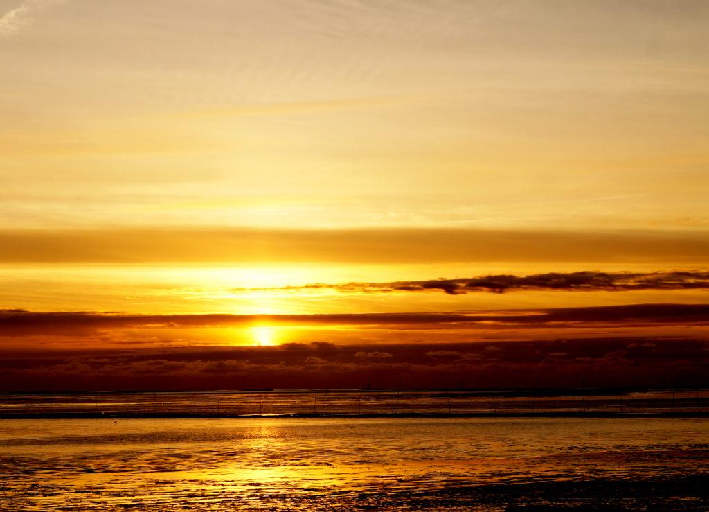 Sonnenuntergang in Wremen
