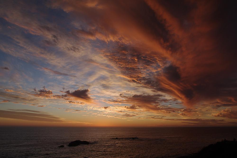 Sonnenuntergang in Yzerfontein