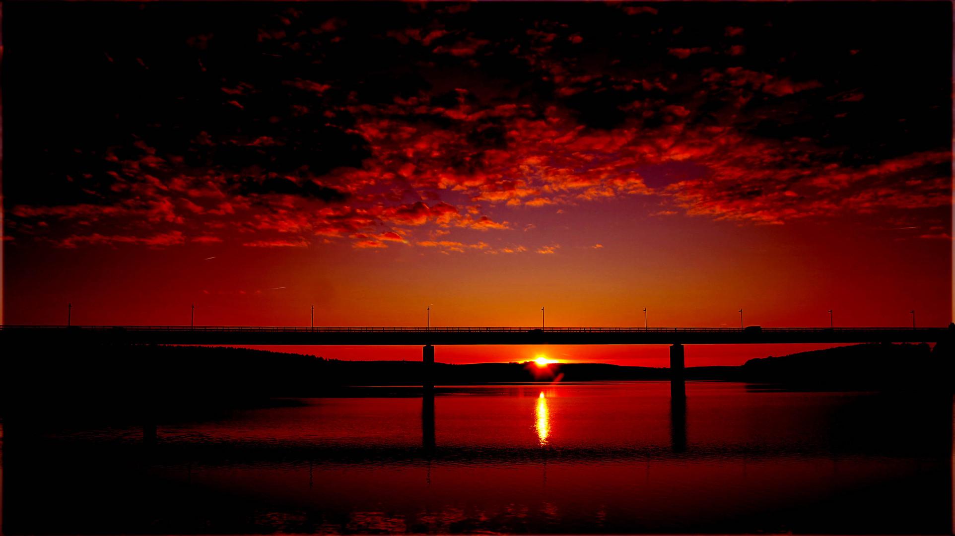 Sonnenuntergang in Zeulenroda