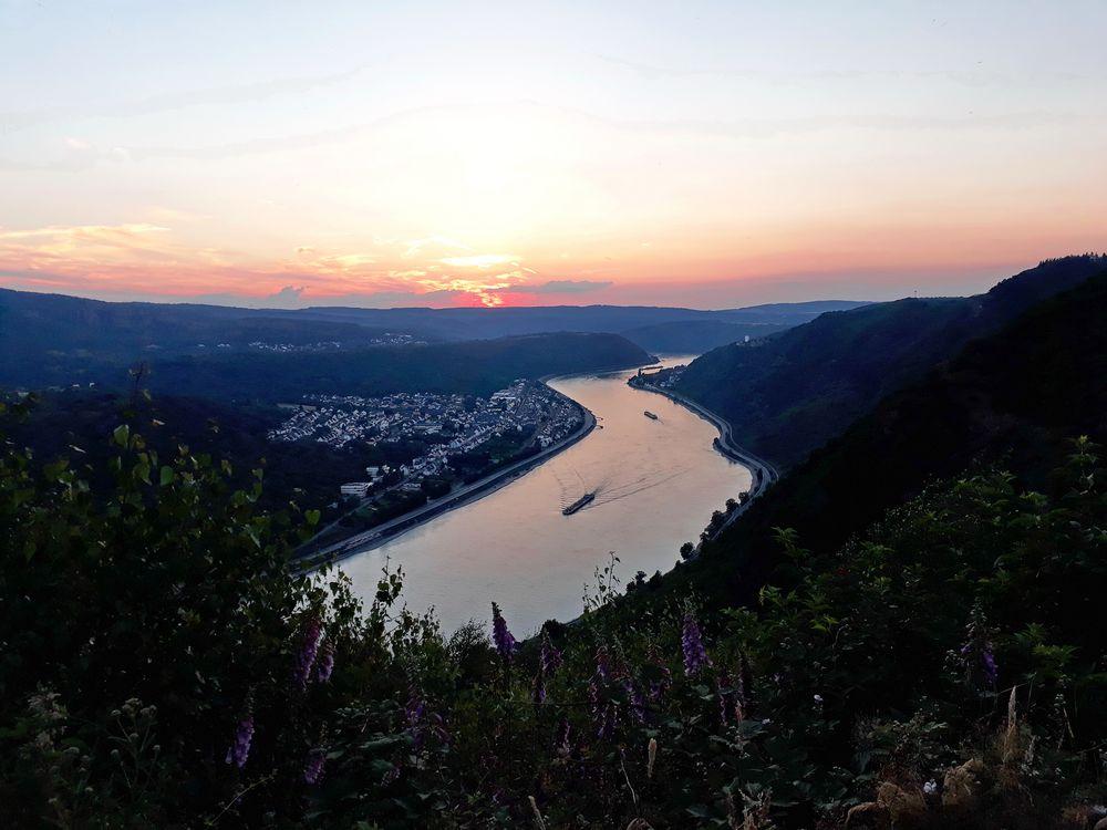 Sonnenuntergang, irgendwo auf dem Rheinsteig