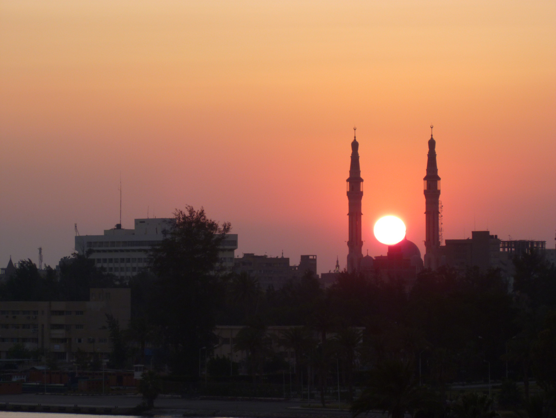 Sonnenuntergang Ismaila Ägypten