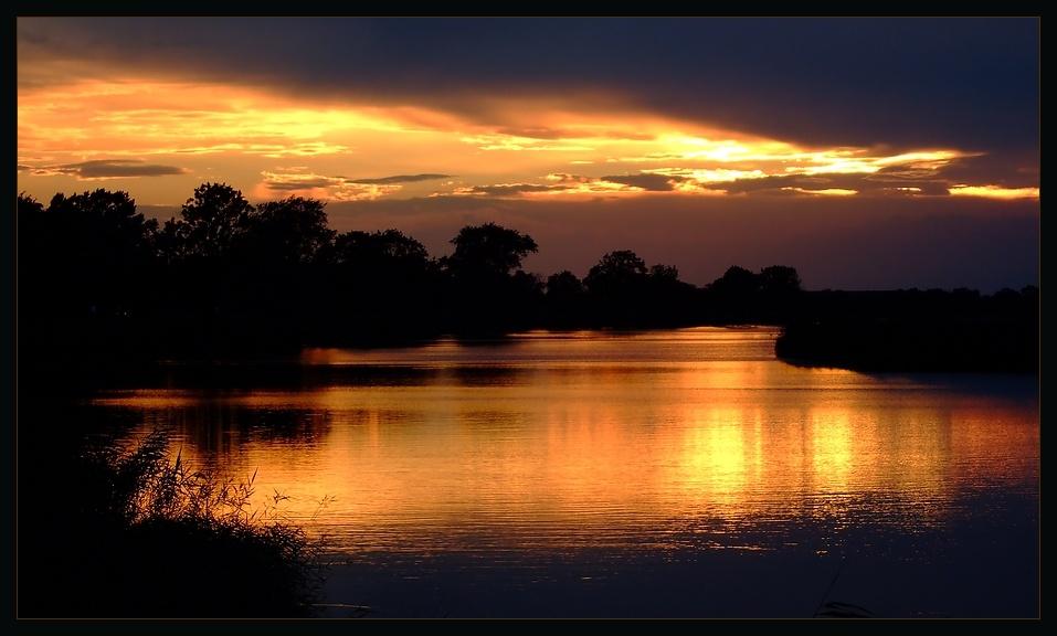 """Sonnenuntergang, ... """"Jenseits von Afrika"""""""