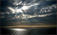 Sonnenuntergang... Jenseits von Dover-England...