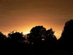 Sonnenuntergang Juni 2006 in Dahme