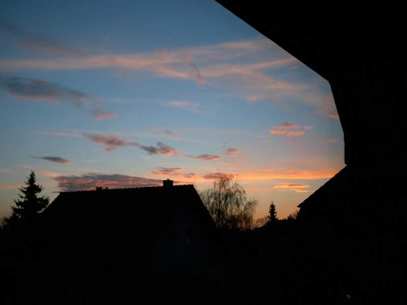 Sonnenuntergang keiner Metropole