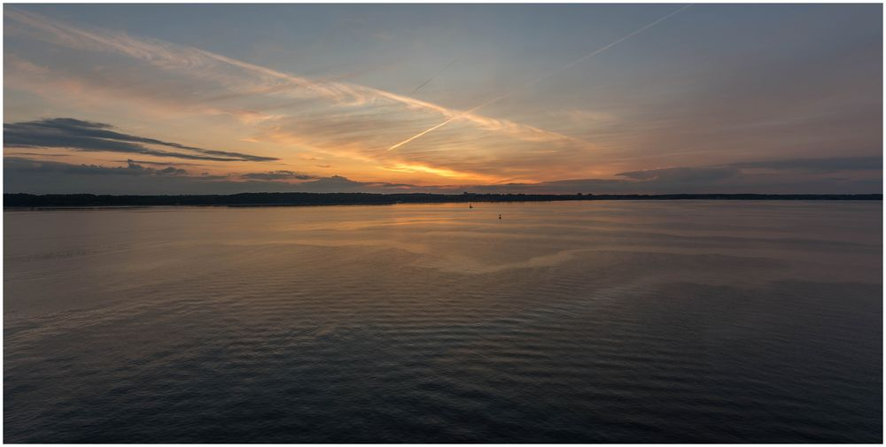 Sonnenuntergang Kieler Förde