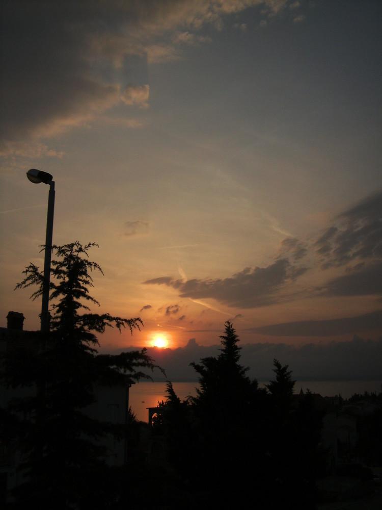 Sonnenuntergang Kroatien in Selce 2008