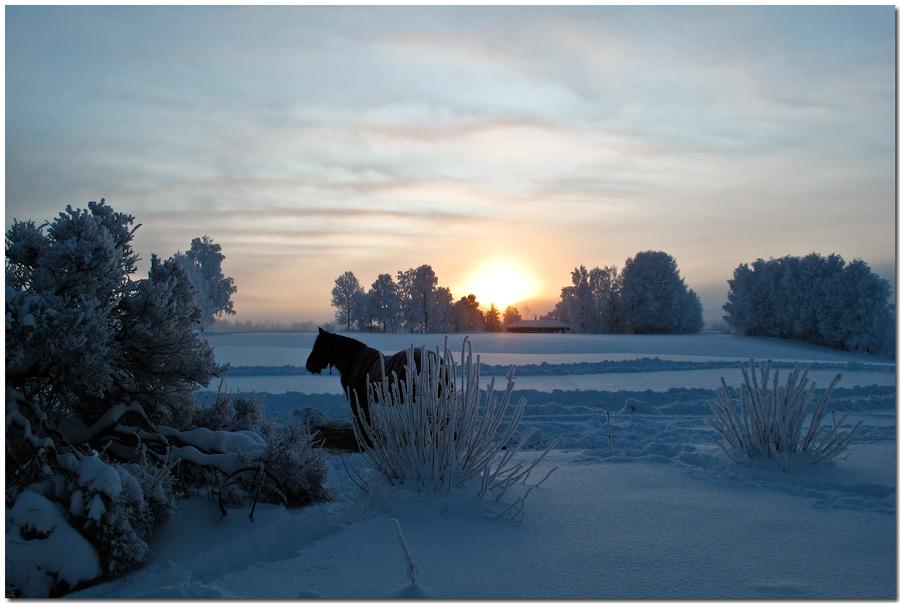 Sonnenuntergang Lörenfallet Norwegen