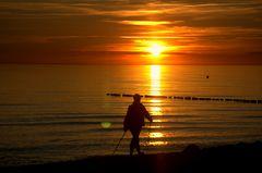 Sonnenuntergang mal Sportlich