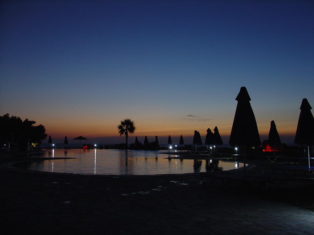 Sonnenuntergang Mastichari...
