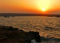 Sonnenuntergang mit Dhows