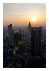Sonnenuntergang mit Linsenreflex