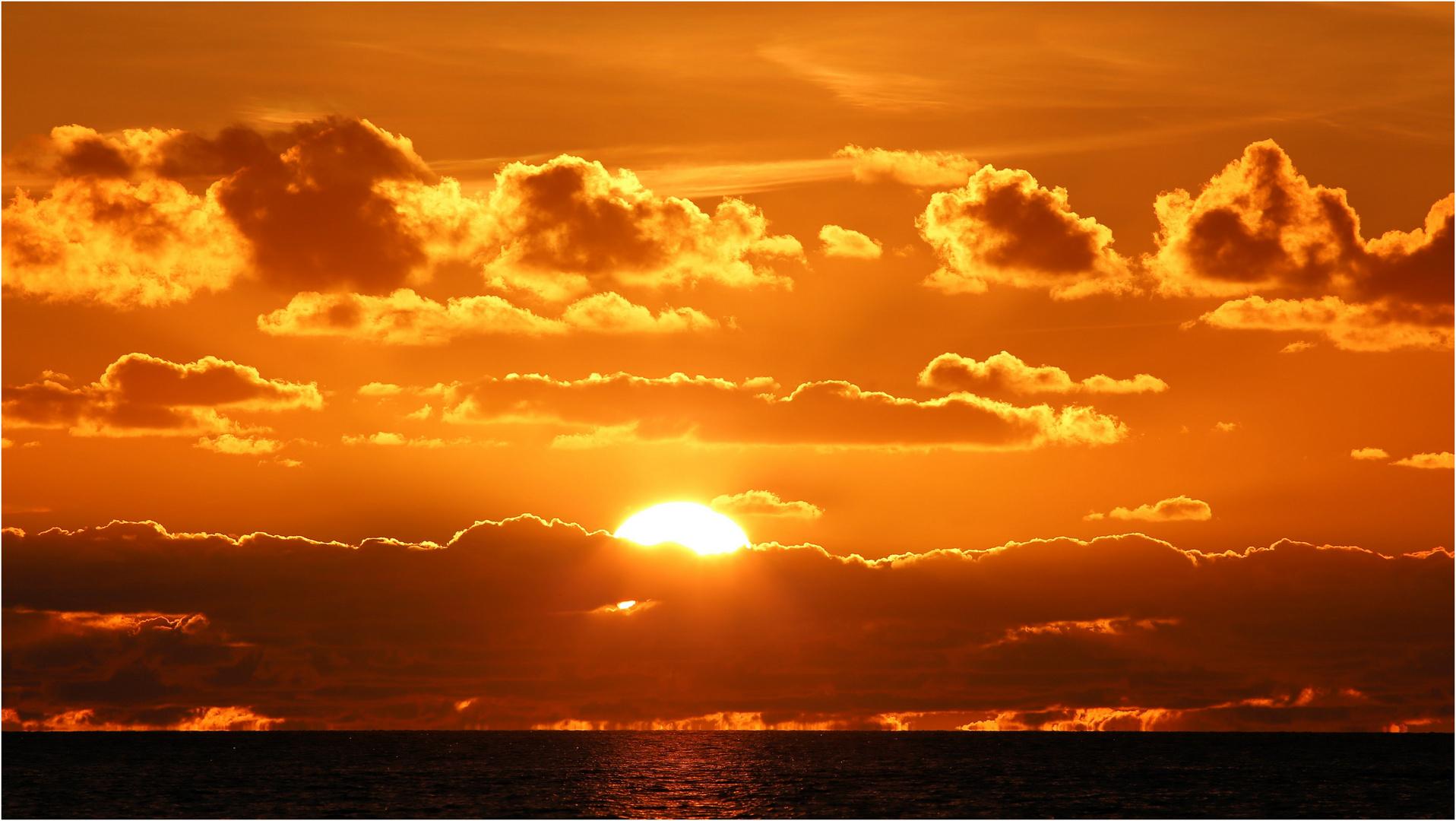 Sonnenuntergang mit Schmelz!