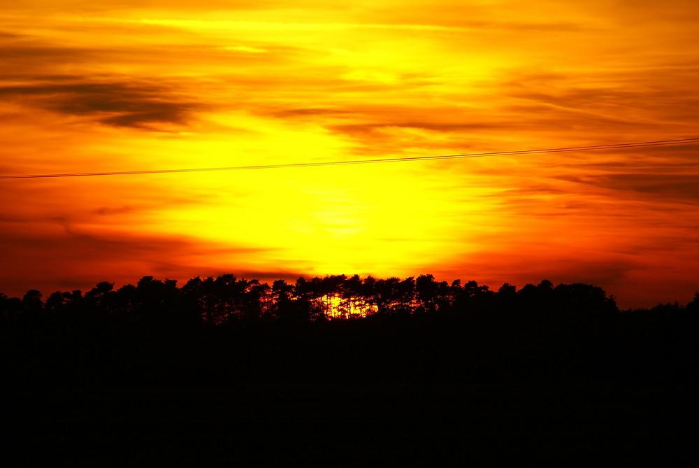 Sonnenuntergang mit Schönheitsfehler