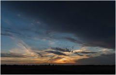 Sonnenuntergang nach dem Unwetter
