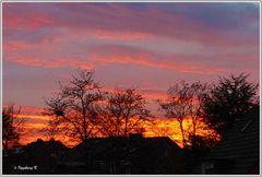 Sonnenuntergang nach einem Regentag am 12.11.2014