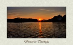 Sonnenuntergang nach Thüringer Art