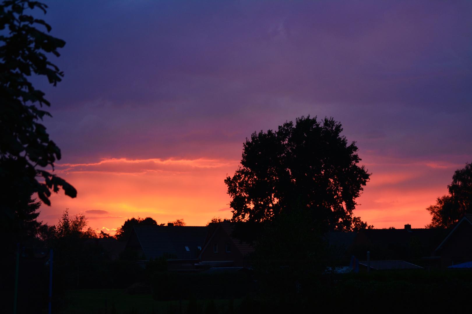 Sonnenuntergang nach Unwetter