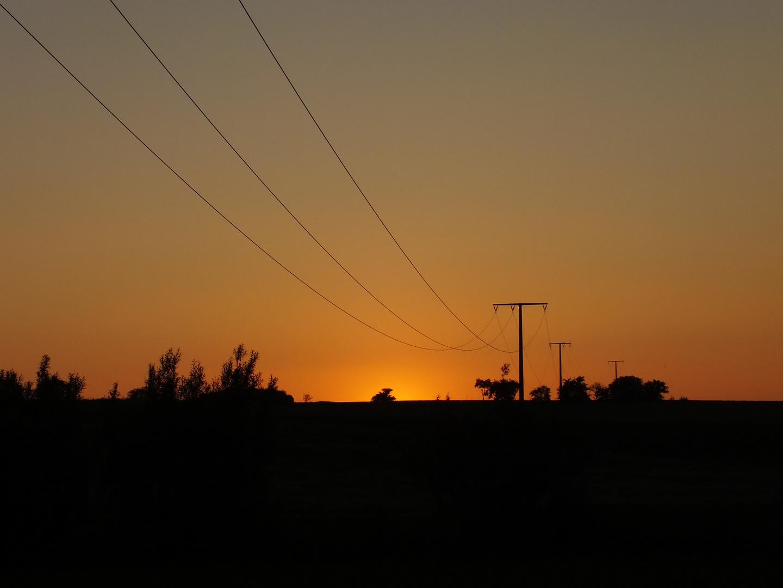Sonnenuntergang nähe Aub