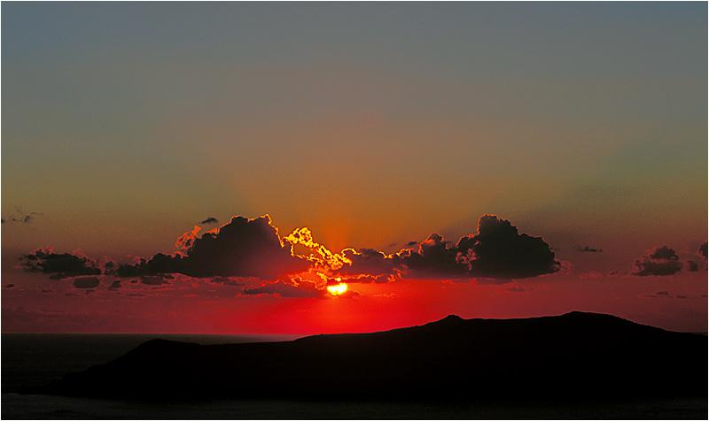 Sonnenuntergang ohne Blitz