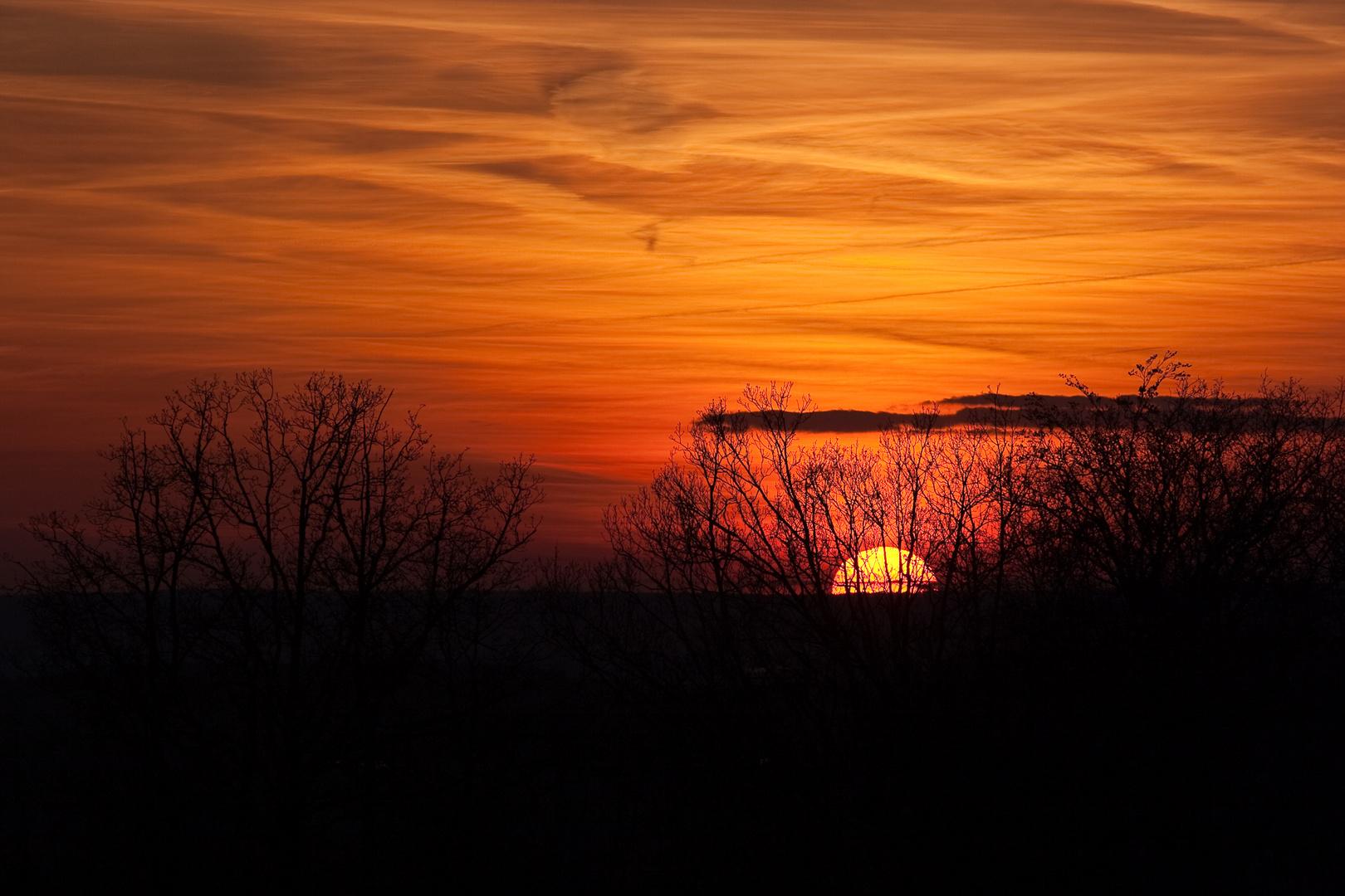Sonnenuntergang Ostermontag