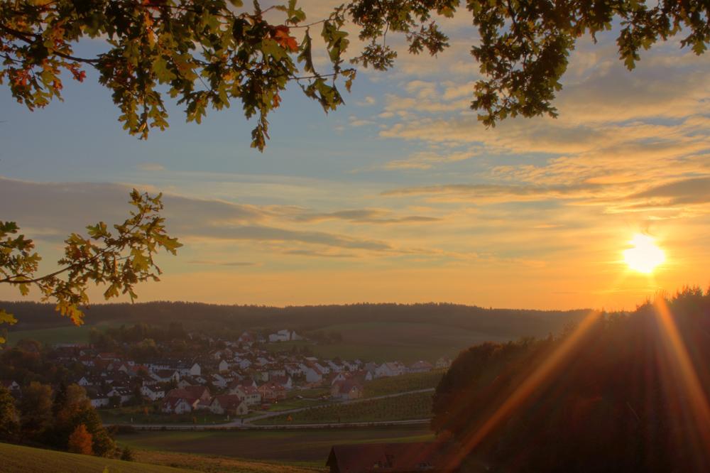 Sonnenuntergang Pfaffenhofen/Sulzbach