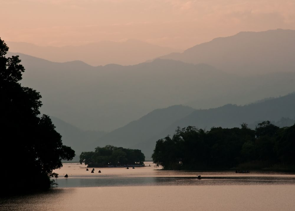 Sonnenuntergang Phewa-See