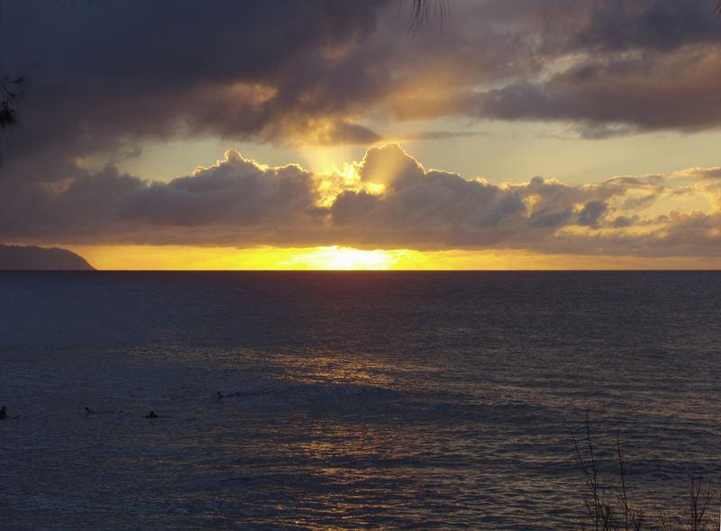 Sonnenuntergang - Pipeline Beach - Oahu